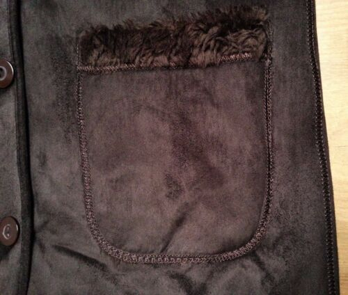 taillel chaud 100coton Manteau dames en doublure en super d'hiver fourrure peluche brun 8mN0vwn