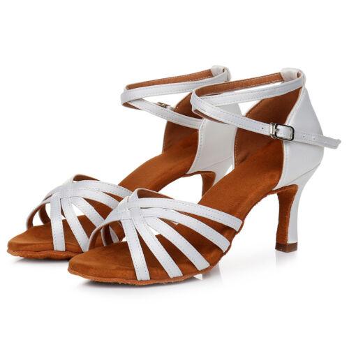 Women Tango Ballroom Latin Dance Shoes Heeled Salsa Dancing Shoes 11 Colors