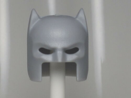 A227 Lego FIT CUSTOM MADE & INSPIRED Light Bluish Gray Batman Helmet, fits lego