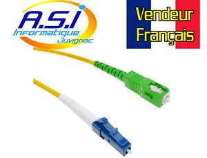 Câble Fibre Optique LC/UPC à SC/APC monomode simplex 9/125 de 5 m VENDEUR FR