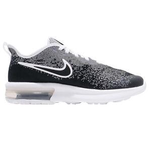 Détails sur Nike Air Max Sequent 4 (GS) Enfants Sneaker Chaussures De Loisirs aq2244 001 NoirBlanc afficher le titre d'origine