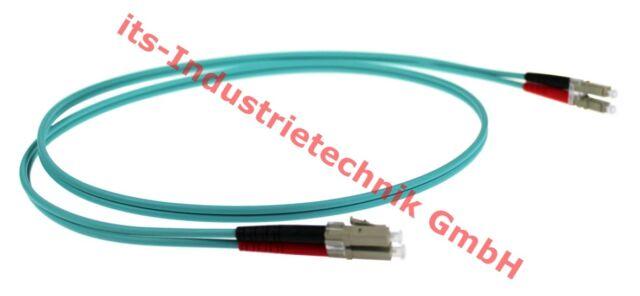 LWL Duplex Kabel Patchkabel LC Duplex Stecker MM50 125µm OM3 5m