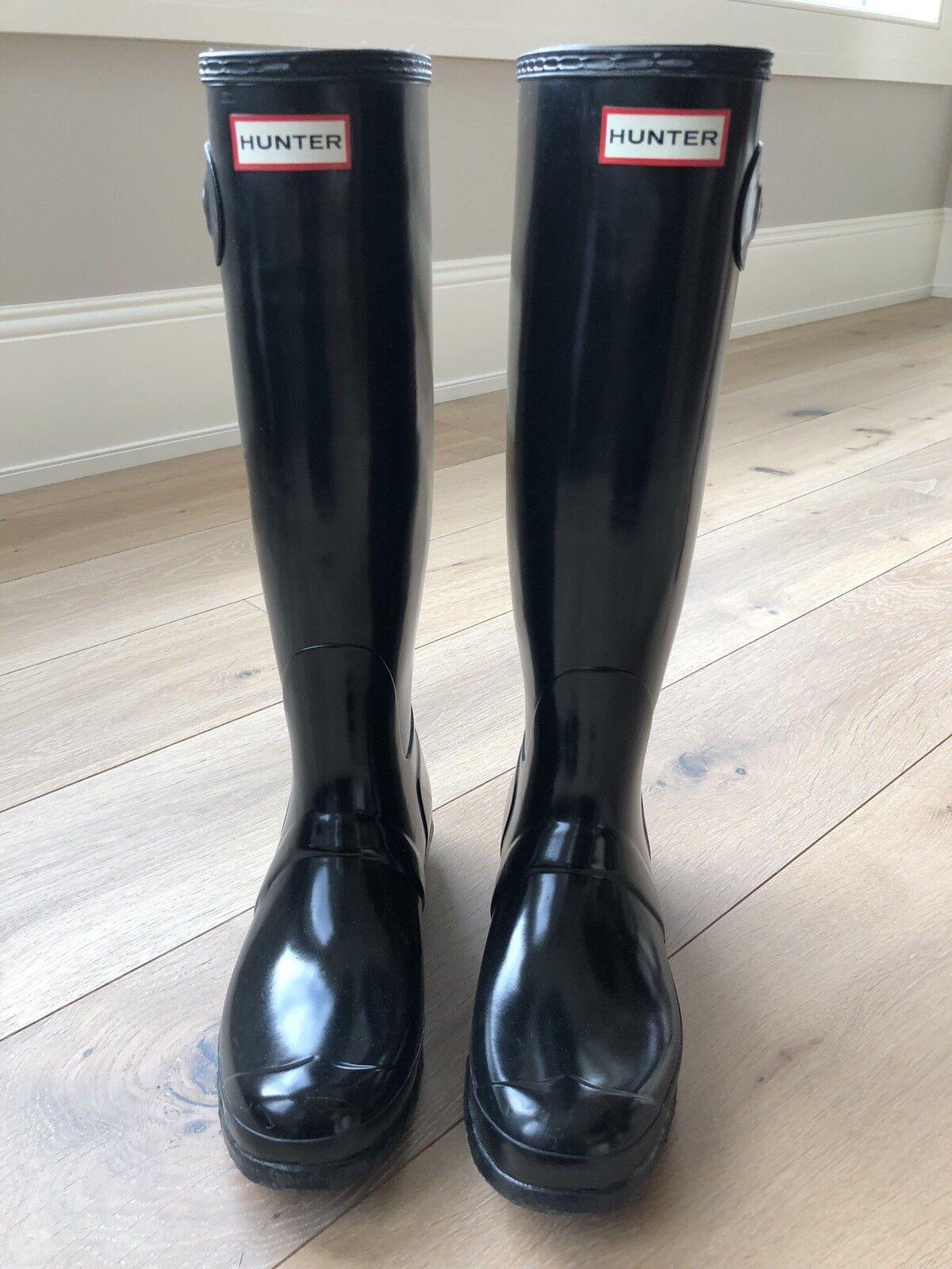 Hunter, Hunter, Hunter, damen's Original Tall Gloss Stiefel, Größe 9 03d64e