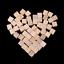 10//20//25mm Wooden Square Blocks Mini Cubes Embellishment for Kids Craft New IK