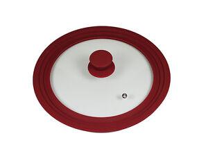 Glasdeckel-Topfdeckel-Deckel-Spritzschutz-Universal-Silikon-24cm-26cm-28cm-NEU