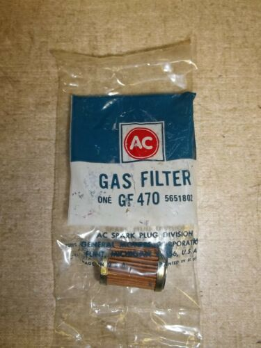 NEW Genuine AC Delco NOS Fuel Gas Filter 5651802 GF470 *FREE SHIPPING*