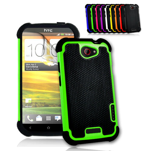 New Heavy Duty Shock Cover Case For HTC One X XL +2x Screen Protector +1x Stylus