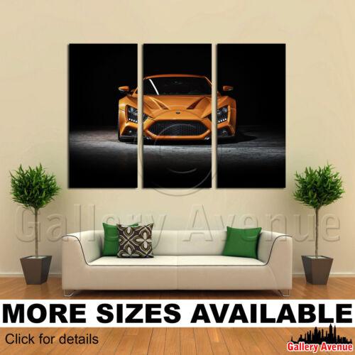 Zenvo ST1 Supercar Car Dports 3.2 3 Panel Canvas Picture Print