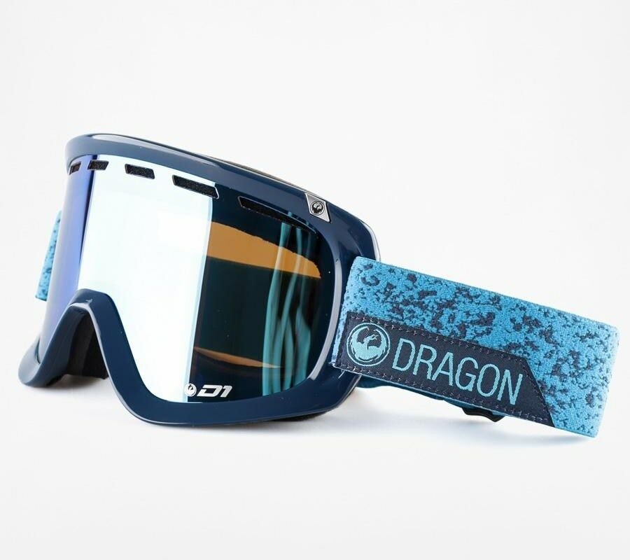 DRAGON D1 Snow  Goggles - Stone bluee - bluee Steel   Yellow Red Ion - 33849 - NIB  sale outlet