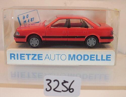 10340 Audi V8 Limousine rot OVP #3256 Rietze 1//87 Nr