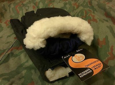 Genuine Soviet and Russian military winter gloves, Sheepskin Fur