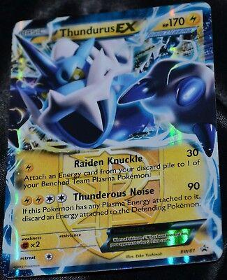 NM Pokemon THUNDURUS EX Card BLACK STAR PROMO Set BW81 Collector Tin Black White