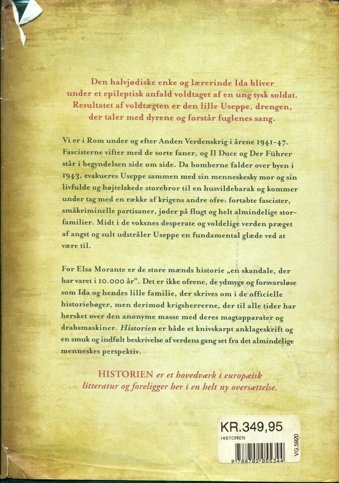 Historien, Elsa Morante, genre: roman