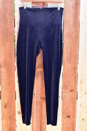 SPANX blue velvet leggings plus size 1X