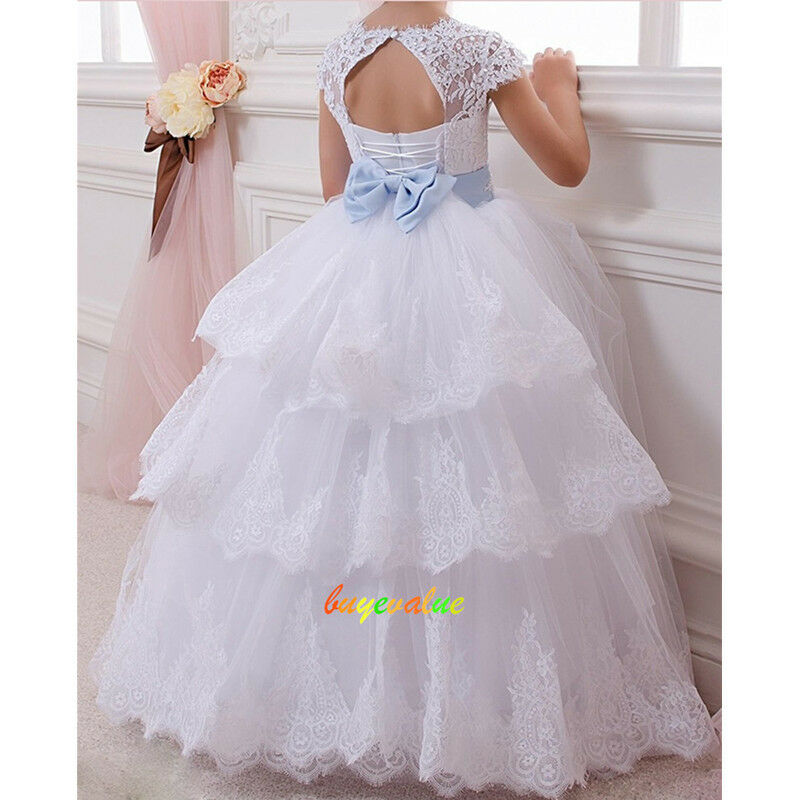 2 14 robes de fille robe enfant robe filles fleurs mariage blanc ivoire tzh40 g ebay. Black Bedroom Furniture Sets. Home Design Ideas