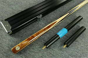 034-Grand-Cues-034-8-5mm-1-PC-Ebony-Red-Maple-Handmade-Snooker-Cue-Aluminum-Case-RT33