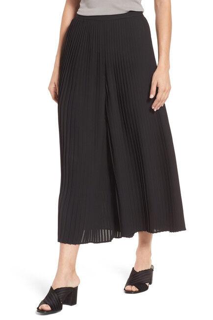 Nouveau Eileen Fisher plissé Jambe Large Cheville Pantalon en schwarz-Größe L  P37