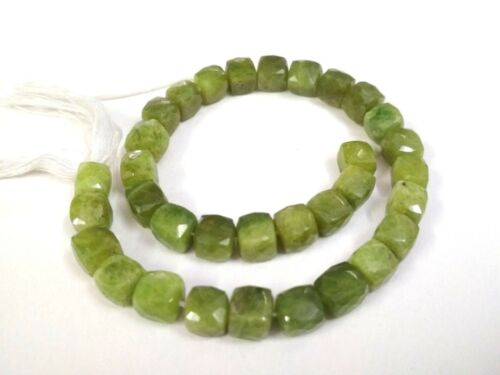 """1 Strand Natural Vassonite 3D Cube Box Faceted 7.5-8mm 10/""""inch Gemstone Beads"""