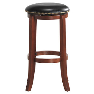 Sensational Details About 29 Swivel Bar Stools Leather Padded Solid Counter Height Pub Chairs Backless Gmtry Best Dining Table And Chair Ideas Images Gmtryco