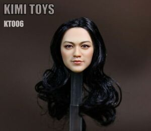 KUMIK-1-6-Asian-Star-Tang-Wei-Female-Head-PVC-Black-Hair-KT006-Carved-Model-Toy