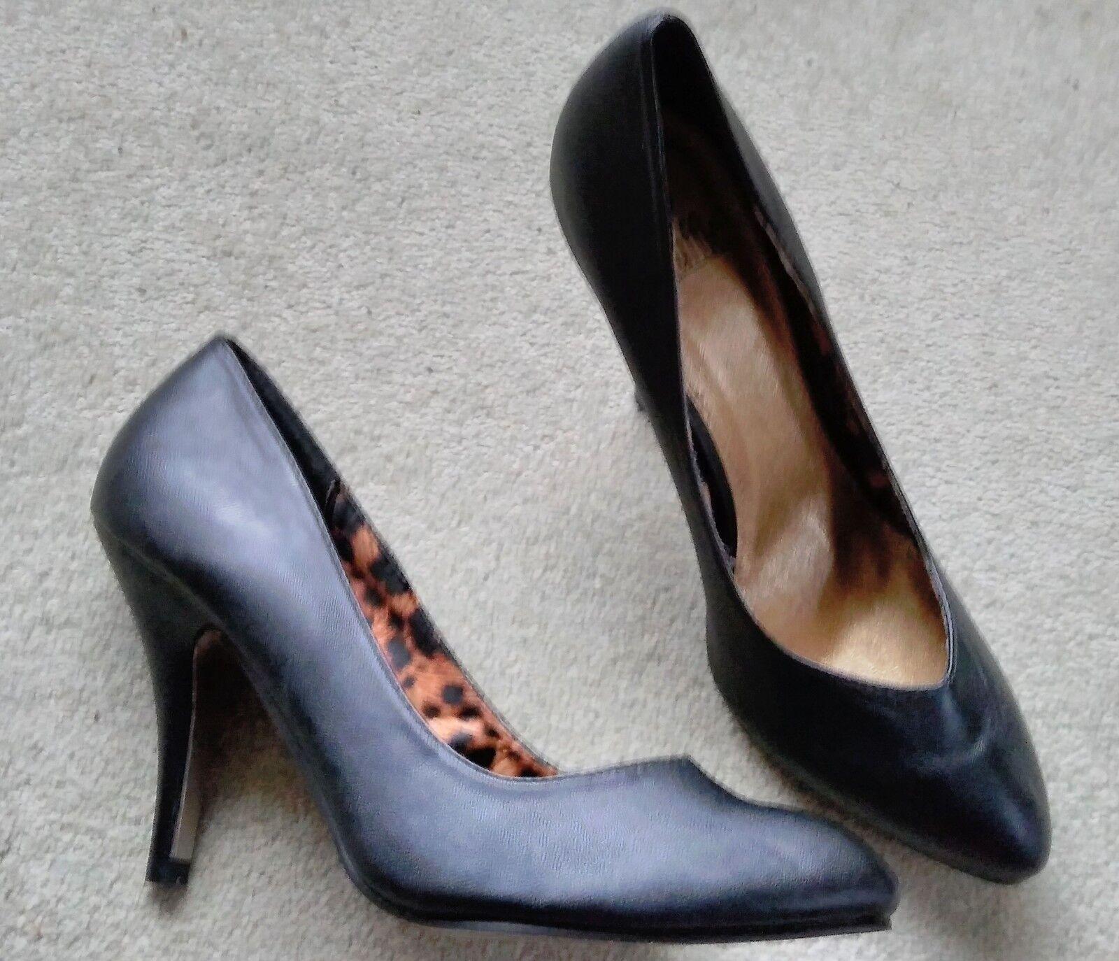 """Moda jest prosta i niedroga Truffle Black stilettos 4"""" heel sz 8 Brand New"""