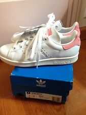 9288dc2d1abf Adidas Stan Smith Raw Ray Pastel Pink White Men 4 Shoes Trainers Women 5 -  5.5