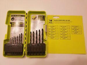 Black Oxide Finish ~ BRAND NEW RYOBI 15 pc Drill Bit Set
