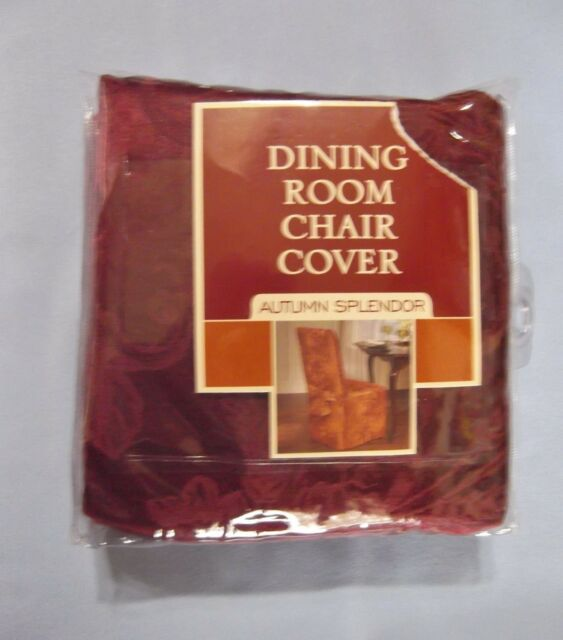 Enjoyable 1 New Dining Room Chair Cover Wine Autumn Splendor Fits Armless Chair Up To 42 Alphanode Cool Chair Designs And Ideas Alphanodeonline