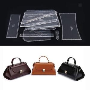 19Pcs Leather Craft Acrylic Shoulder Bag Handbag Pattern Stencil Template