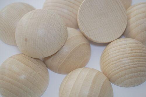 Bastel- und Gestaltungsholz Buche 30mm Ø 10 Stück unbehandelt Holz Halbkugeln