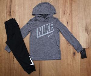 e9c564ab348b Nike Toddler Boy 2 Piece Hooded Top   Jogging Pants Set ~ Gray ...