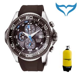 Citizen-PROMASTER-orologio-subacqueo-orologio-da-polso-bj2111-08e-20-bar-200-M-CRONO-ECO-DRIVE