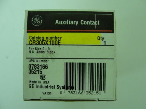 New General Electric Contact Block CR305X100E 35215 0783166