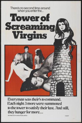 Tower of Screaming Virgins Cult Horror movie poster print 1968