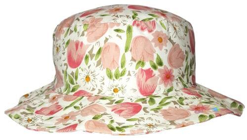 Dise/ño de Flores para Mujer dise/ño de ala Ancha Summer Tulip Gorro para el Sol