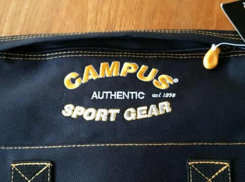 UNISEX Strong /& Comfy Strap Campus Authentic Sport Gear  Black Travel Roomy Bag