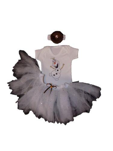 The Grinch Olaf Frozen Snowman Sparkle Girls Tutu Set Baby Fancy Dress BOOK WEEK