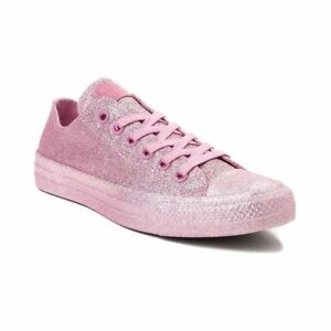 Converse Chuck Taylor All Star Metallic Pink Glitter Shoes Sneakers ... c76f47237