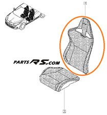 New GENUINE Recaro Renault Sport Megane III RS 250 265 upper saet fabric fabric
