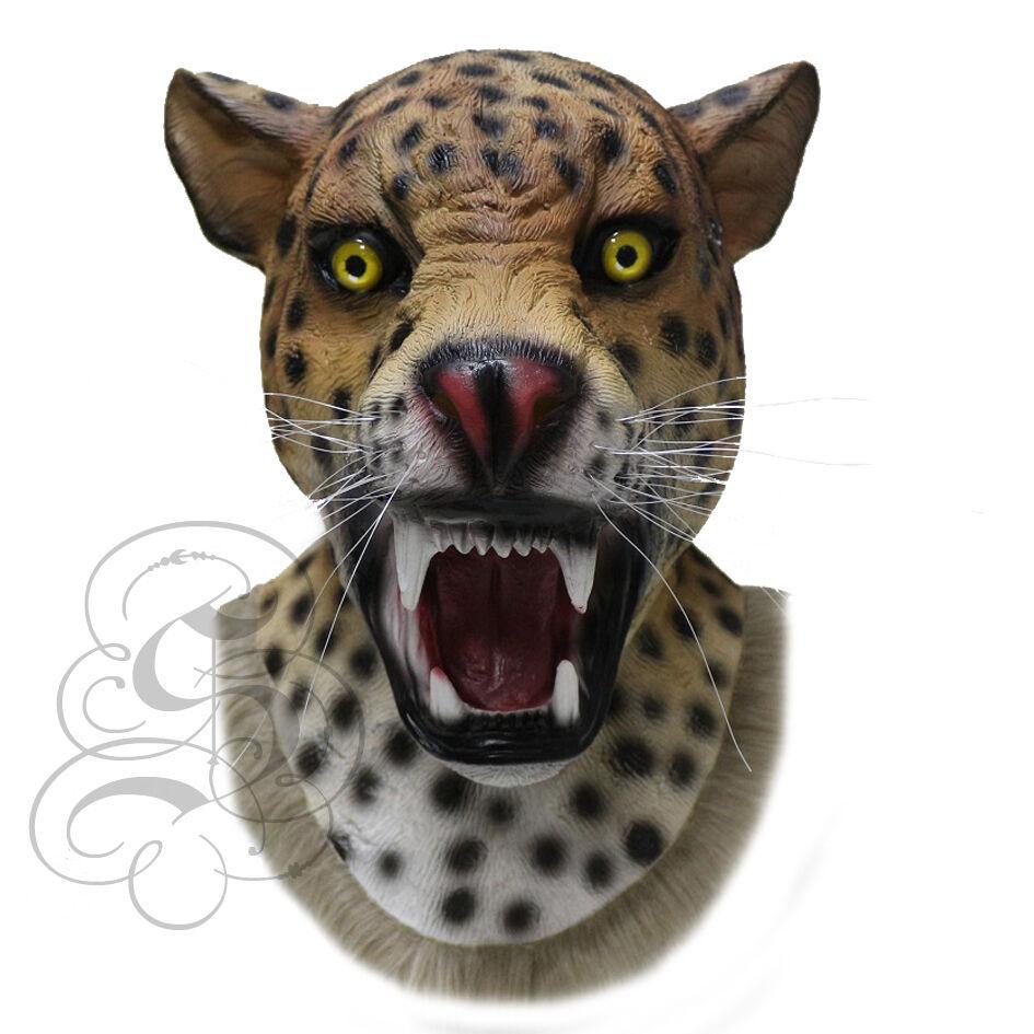 Latex Realistische Jaguar Raubkatze Kostüm Karneval-Party Theater Requisiten | Bevorzugtes Material