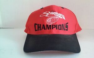Vintage-Detroit-Red-Wings-NHL-1997-Stanley-Cup-Champs-Snapback-Hat-Cap-Logo-7