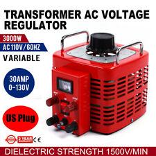 3kva 30amps Variac Variable Transformer 0 130v Ac Voltage Regulator 30a 1500 V