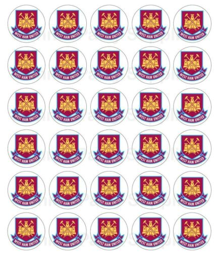 West Ham Football Edible Wafer Cupcake Cup Cake Decoration Topper Image 30