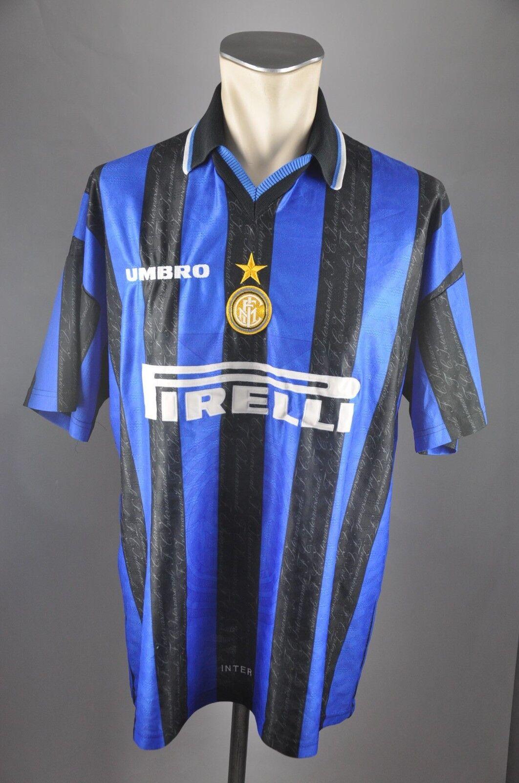 Inter Mailand Trikot Gr. Maillot XL 1997-1998 Umbro Pirelli Jersey Maillot Gr. Milan 90s 28fa2d