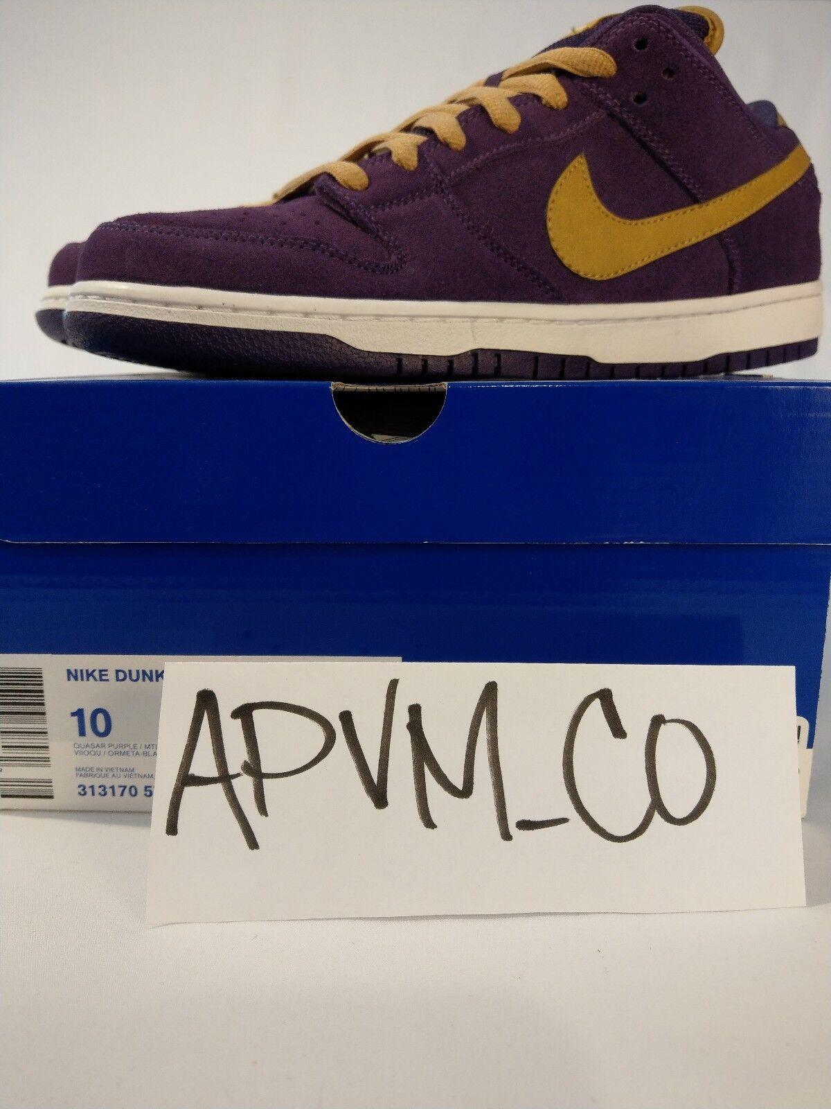 Nike Dunk Low Premium SB NEW Sz 10 CROWN  Royal PURPLE 313170-571 RARE DS