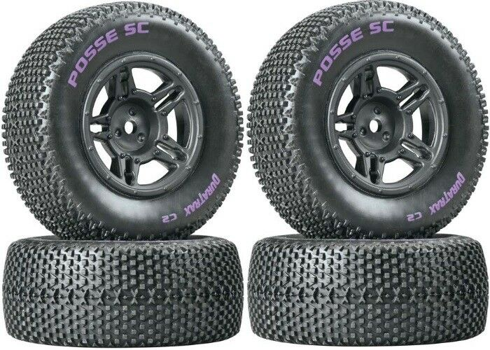 NEW Duratrax SC Tires / Wheels  4  Traxxas Slash 4X4 / HPI Blitz Front / Rear
