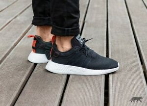 hot sale online 2aade d44d0 Mens Adidas NMD R2 Core Running Sneakers New, Black / Future ...