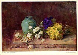 Alte-Kunstpostkarte-Johanna-von-Destouches-Fruehling