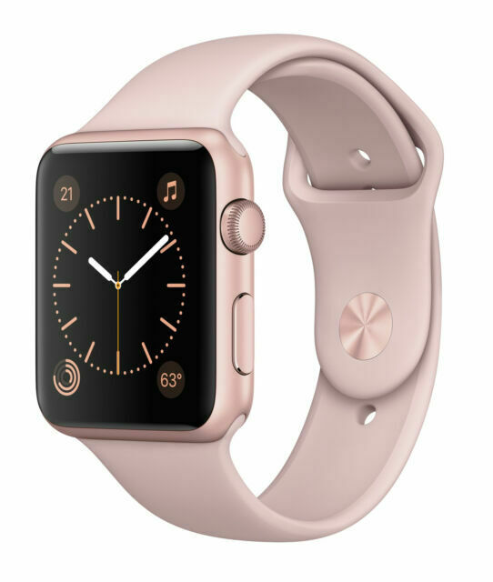 Apple Mq142ll A Series 2 42mm Smartwatch With Rose Gold Aluminum Case For Sale Online Ebay