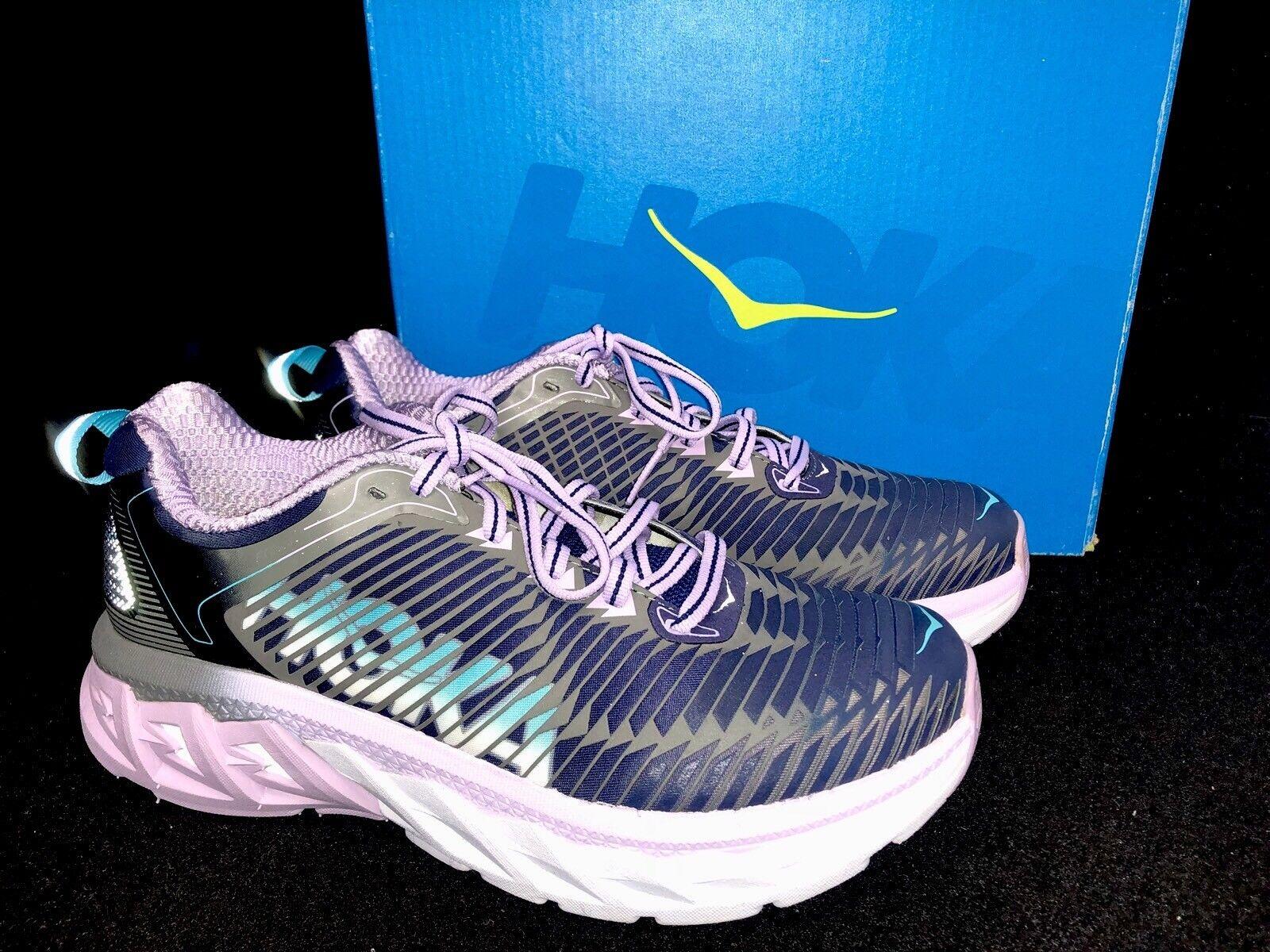 Hoka One One Arahi Running shoes Womens Medieval bluee Lavender Pink 1016259 box